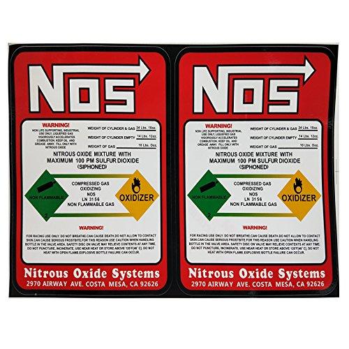 Dracary NOS Replacement 10LB Nitrous Bottle Label Sticker Decal 2PCS