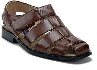 991831b71e2b45 J aime Aldo Men s 44327 Leather Lined Caged Closed Toe Slip On Dress Sandals