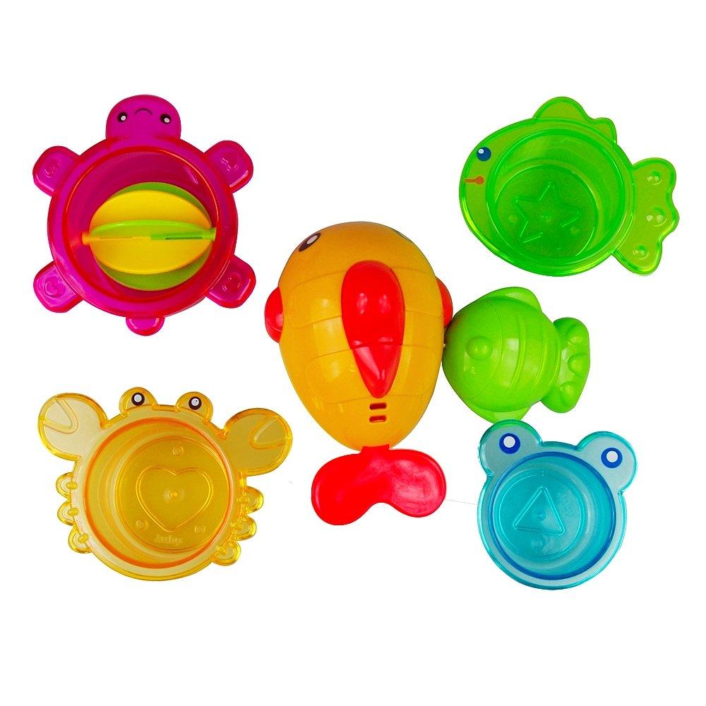 AUBY 澳贝 婴儿启蒙玩具 海洋动物淋浴套装463505