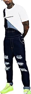 babao Men's Denim Jeans Dungarees Mens Jean Work Bib Overalls Retro Jumpsuits Summer Casual Rompers