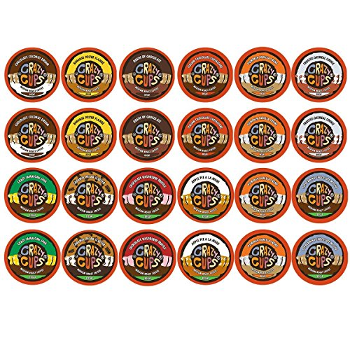 Crazy Cups Decaf Flavor Nations Selection and Flavored Lovers Hot or Iced Coffee Single Serve Cups for Keurig K Cups Brewer (48 Count)