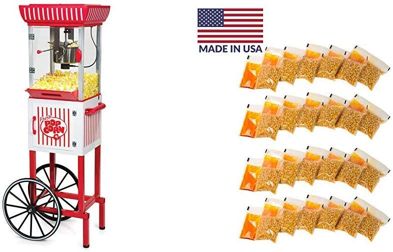 Nostalgia PC25RW 2.5 oz Popcorn Concession Cart 4-Oz. Soldering Shipping included with 24