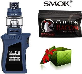 (綿は贈り物です)【SMOK正規品】SMOK MAG Baby Kit 電子タバコ 50W TC 本体 4.5ml TFV12 Baby Prince Tank プリンス アトマイザー Vape スターターキット 爆煙 (Navy Blue Black) + Wick 'N' Vape製品 Cotton bacon