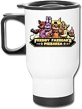 Five Nights at Freddy Fazbear's Pizza Vaso de acero inoxidable de 16 onzas con doble pared de vacío taza de café con tapa a prueba de salpicaduras para bebidas frías y calientes