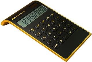【Letitfly】 Calculator, Slim Elegant Design, Office/home electronics, Dual Powered Desktop Calculator, Solar power, 10 Digits, Tilted LCD Display, Inclined Design, Black (Slim)