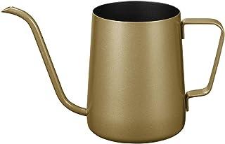 Long Narrow Spout Coffee Pot (12 Oz) Small Fine Stainless Pour Over Drip Coffee Pot Gooseneck Tea Kettle (Gold, 350ML)