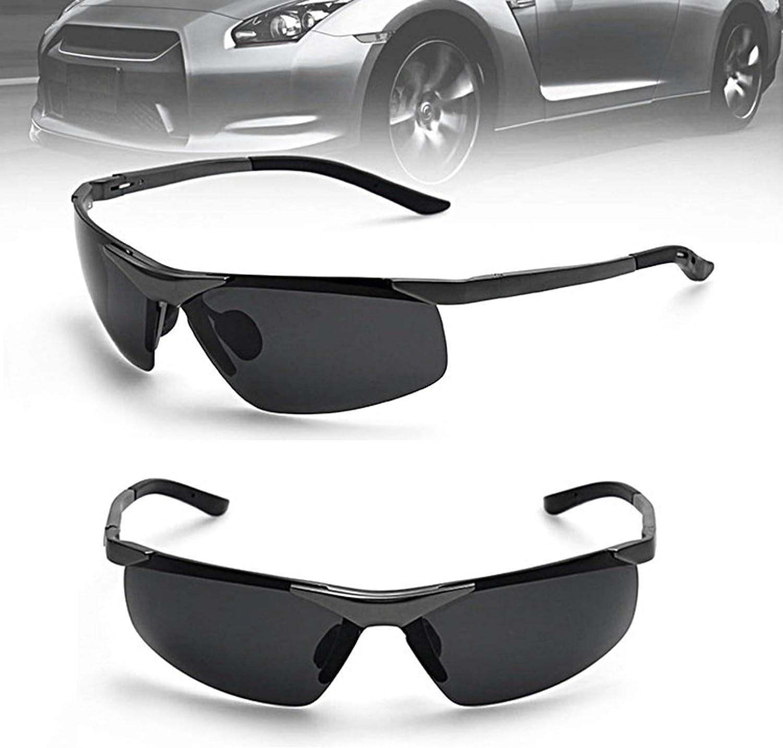 Cycling Sunglasses Fishing AluminumMagnesium Fashion Sports Driving Sunglasses Black for Women AdiSaer