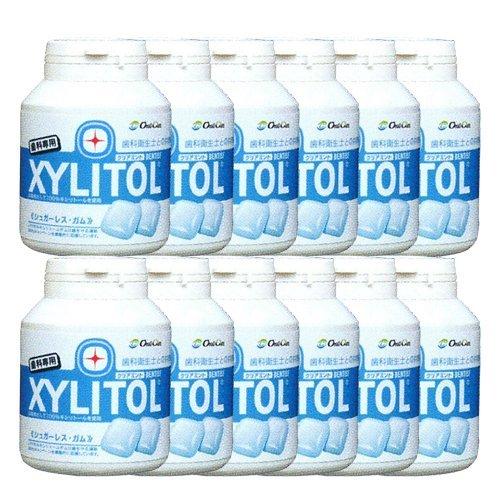 歯科専売品 キシリトール ガム ボトル タイプ 90粒×12本 クリアミント キシリトール 100%