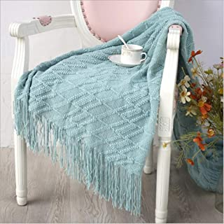 Home Delia Knit Throw Blanket Soft Warm Textured for Couch Sofa Bed Office Chair Camping Gift on Mother's Day Valentine's Day Thanksgiving Throw Blankets for Adults Women Girls Babies Pet 50x70