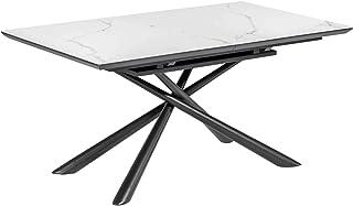 Kave Home - Table Extensible Theone 160 (210) x 90 cm Plateau grès cérame