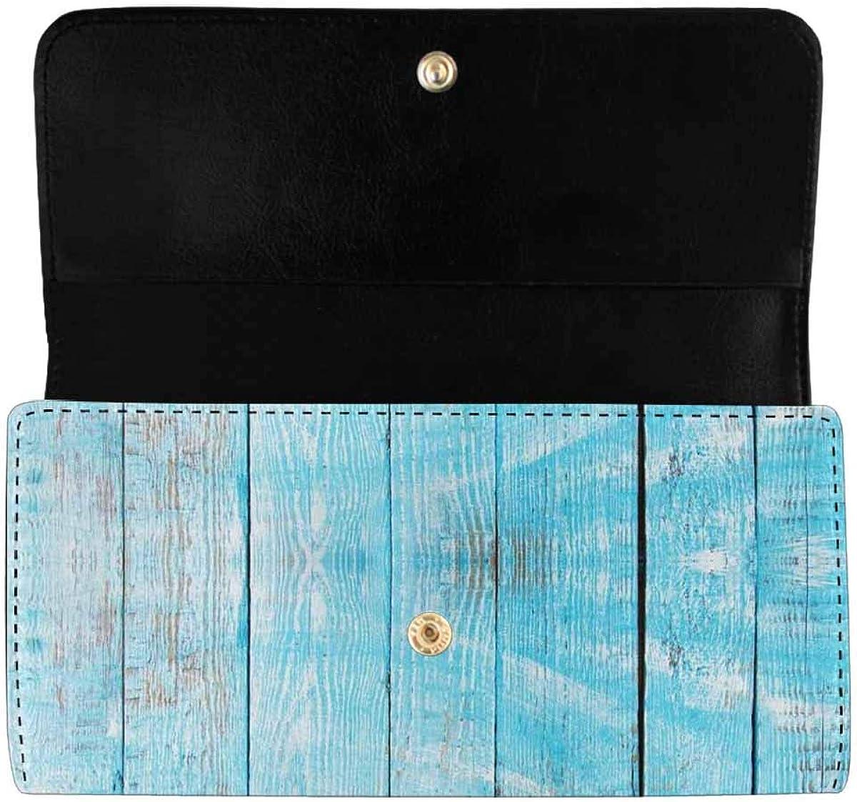INTERESTPRINT Women's Long Clutch Wallets Pattern Santa Claus Trifold Card Holder Purses