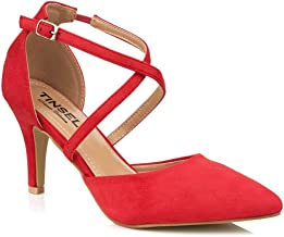 red mid heel sandals uk