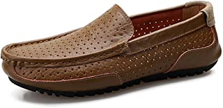 Genuine Leather Shoes Men Loafers Breathable Peas Shoes Men Driving Footwear