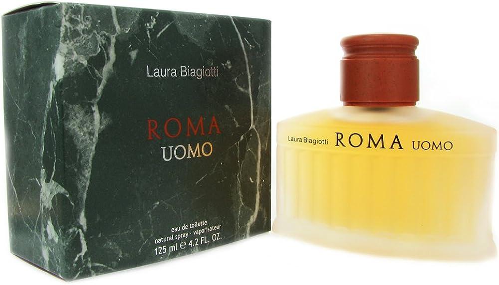Laura biagiotti, roma uomo, eau de toilette uomo, spray ,125 ml 25235