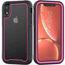 iPhone XR Case Hybrid Clear Defense Bumper, Stylish Armor Defender Drop Protection Anti-Scratch Hard Shell Military Grade Drops Protection Case for iPhone XR 6.1 inch Screen (Pink)