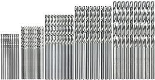 Fan-Ling 50Pcs Titanium Coated HSS High Speed Steel Drill Bit Set Tool,1/1.5/2/2.5/3mm Drill Bit Set, Cobalt Drill Bit Steel Straight Shank,Multiple size options, Spiral Drills,Twist Drill Bits