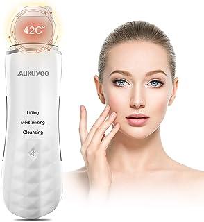Espatula Ultrasonic Dispositivo, AUKUYEE Ultrasónico de Limpieza de la piel Facial,Depurador de piel facial portátil para Peeling facial poros Limpiador de la piel Dispositivo de belleza para el hogar