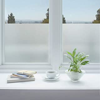 Jahoot Privacy Window Film Frosted, Static Clings Glass Door Tint No Glue Window Sticker for Home Office Security, Anti-UV...