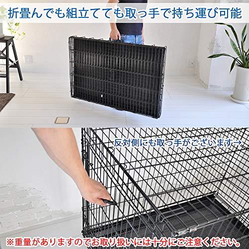 ペットに清潔な住まいプチリュバンペットケージXL幅106×奥行69×高78cm折畳式・スノコ付トレイ付