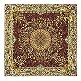 Tovaglia Lpuk Afshari Collection SERIES5 viola 100 cm × 100 CM circa quadrato in tessuto classico vintage modello
