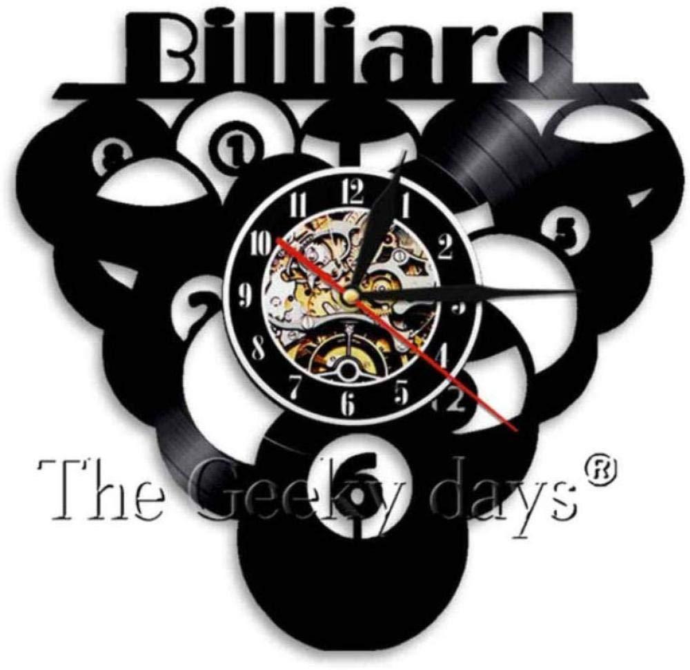 Reloj de pared de vinilo Piscina de bolas de billar Reloj de ...