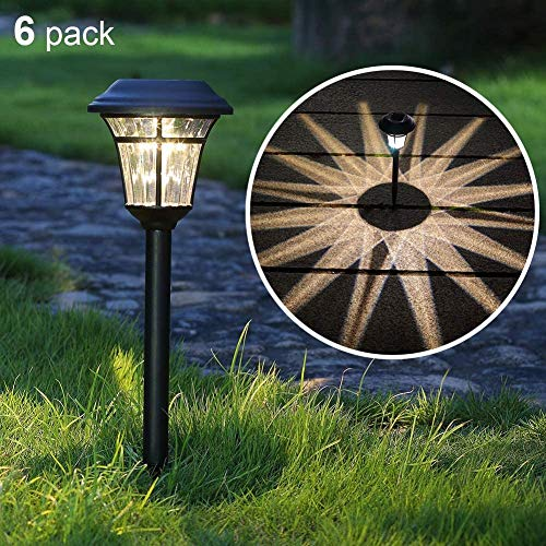 Maggift 8 Lumens Solar Garden Lights Solar Landscape Lights Solar Pathway Lights Outdoor for Lawn, Patio, Yard, Garden, Walkway, 6 Pack