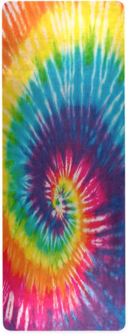 Pfrewn 驚きの値段 Swirl Rainbow キャンペーンもお見逃しなく Tie Dye Yoga Travel Inch 1 Mats 16 Mat