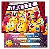Partycards Set di 12 inviti Compleanno Biglietti invito per Festa Compleanno per Bambini e Adulti in Italiano - Film Cinema
