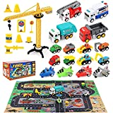 HONYAT Construction Toys, Engineering Vehicles Set with...