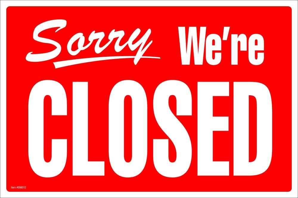 Amazon.com : Cosco Sign, Open/Closed, 8 x 12 Inches (098012) : Office  Products