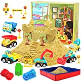 Kenlaimi Construction Moving Sand Kit - Play Sand for Kids -...