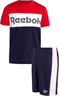 Reebok Boys 2-Piece Athletic Short Set with Graphic T-Shirt