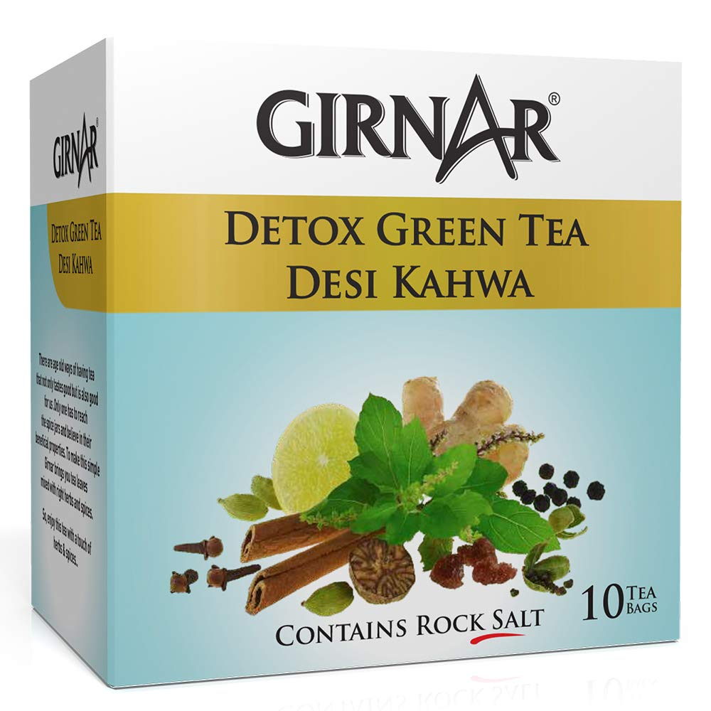 Girnar Now free shipping Detox Ranking integrated 1st place Green Tea Pack 10 Sachet