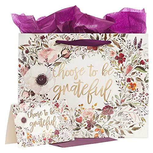 Escolha a ser grato Medium Saco do presente com papel Inspirado Tissue e cartão