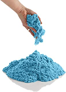 CoolSand 2 Pound Refill Pack - Moldable Indoor Play Sand in Resealable Bag Blue
