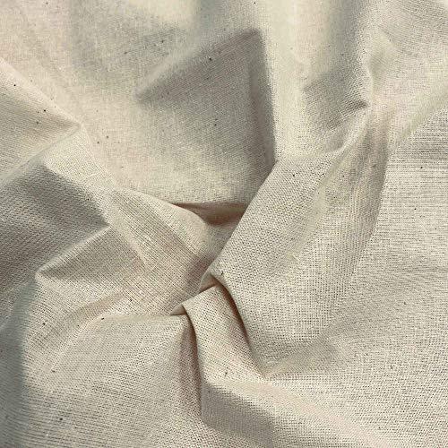 Kt KILOtela Tela de glasilla - Lienzo Moreno - Algodón - Patrones, Forro, Bolsas, Manualidades - Retal de 100 cm Largo x 280 cm Ancho | Crudo - 1 Metro