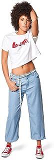 Lee Cooper Women's Wide Leg Pant Casual, Blue, Standard