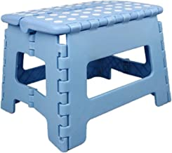 Footrest Stool Folding Stool Outdoor Portable Plastic Folding Ladder Thick and Durable Super Load-Bearing Small Bench for ...