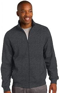 Men's Full Zip Sweatshirt - Graphite HTHR ST259 L