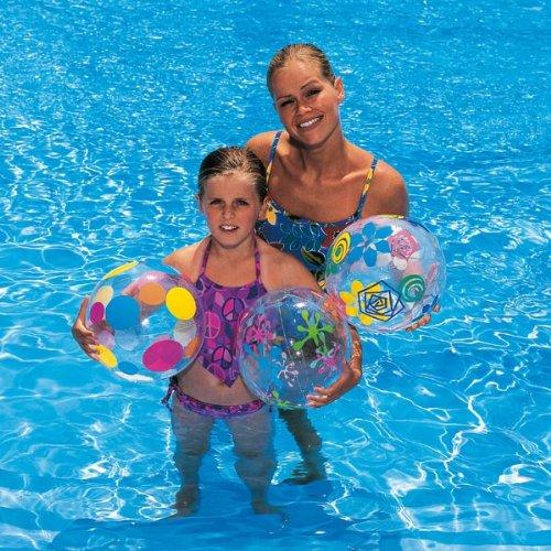 BESTWAY-ballon et résistantes aux designs différents, 41 cm, eau land ballon de plage multicolore-haus-shop