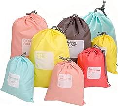 CHRISLZ Nylon Drawstring Bag Waterproof Clothing Storage Bag Travel Dirty Bag Cord Bag Shoes Bag (8-Colors)