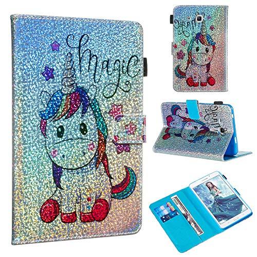 Candy House - Funda para tablet Samsung Galaxy Tab A de 7,0 pulgadas SM-T280 SM-T285, con purpurina y función atril, cierre magnético, diseño...