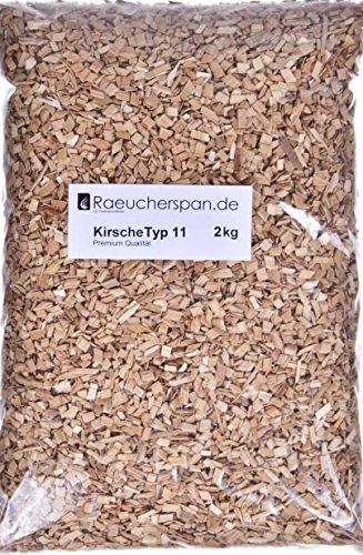 Räucherspäne Räuchermehl Kirschbaum Typ 11 Spangröße 4-6mm zum Forelle, Fleisch, Geflügel Räuchern auf dem Grill, beim Barbecue oder im Räucherofen (2.00.)
