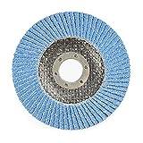 Disco de lijado de aleta de 115x22mm para amoladora angular 40/60/80/120 discos de aleta de molienda de grano herramientas abrasivas de madera de Metal muela-115x22mm 40Grit