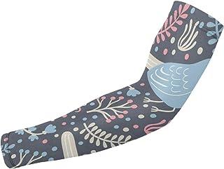 Woodpecker Navy blue bird Sun Protection Arm Sleeves, Sports Arm Sleeves, Compression Arm Sleeves for Men Women