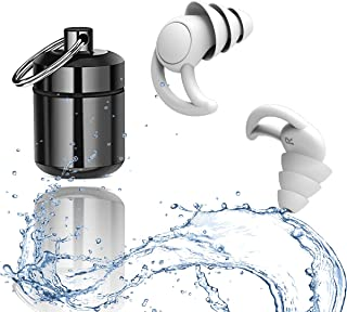 耳栓 安眠 防音 遮音値32dB 飛行機 仕事 勉強 水洗い可能 繰り返し使用可能 運び便利 ブルー 【最新開発】