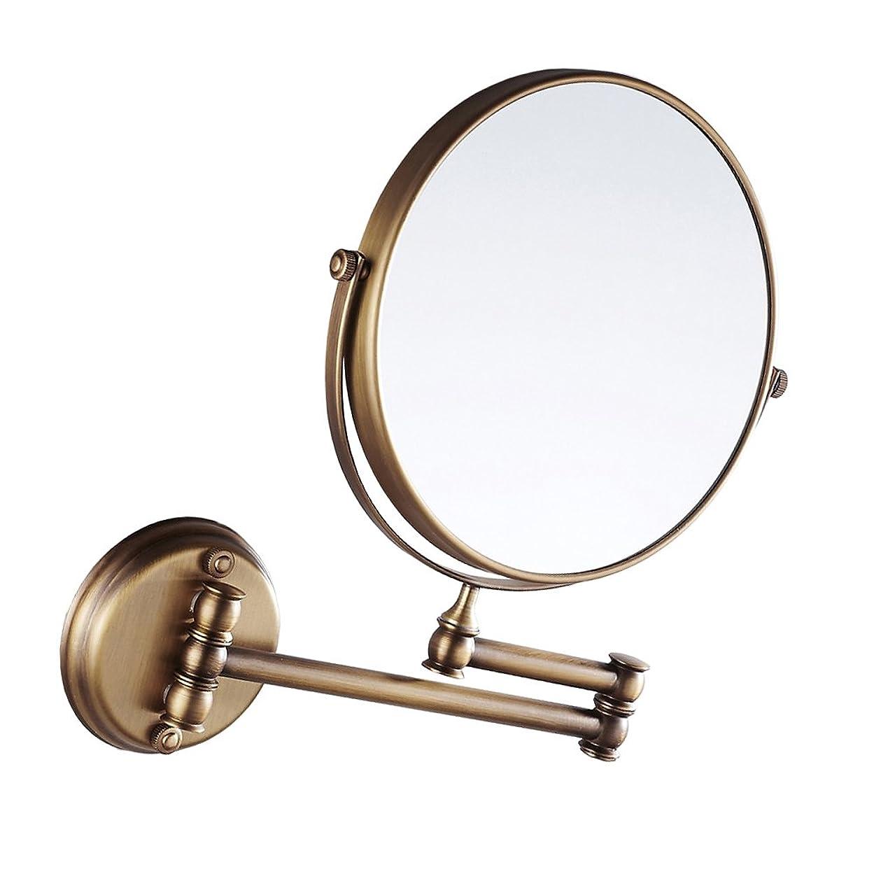 一次円形ことわざDovewill 全4色 壁掛け 折りたたみミラー 拡大鏡 両面鏡 化粧鏡 調整可能 360度回転 上質 バスルーム 洗面台  - アンティーク