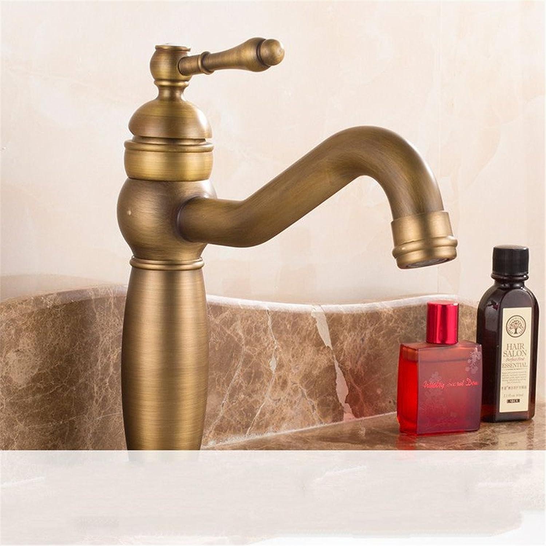 Bijjaladeva Wasserhahn Bad Wasserfall Mischbatterie Waschbecken WaschtischDie Bronze Waschtisch Armatur und Kaltes Wasser auf die Hhe-Hahn gebürstet Waschtisch Armatur mit H