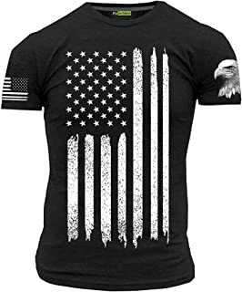 American Flag T-Shirt with Eagle Men's Patriotic Shirts
