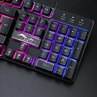 BAKTH Tastiera e Mouse da Gioco, Colore da Arcobaleno LED Retroilluminato USB Gaming Tastiera e Mouse per Videogiochi o Lavoro, Paragonabile a Una Tastiera Meccanica #1